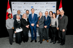 Future Skills Centre interim member of the Future Skills Centre Advisory Board with Ministers Patty Hajdu & Bill Morneau