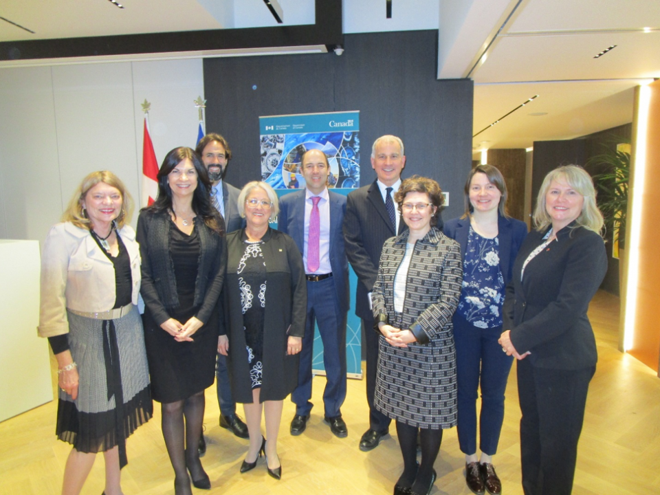 Group of Women at the Canadian Mission to the EU in Brussels, Belgium